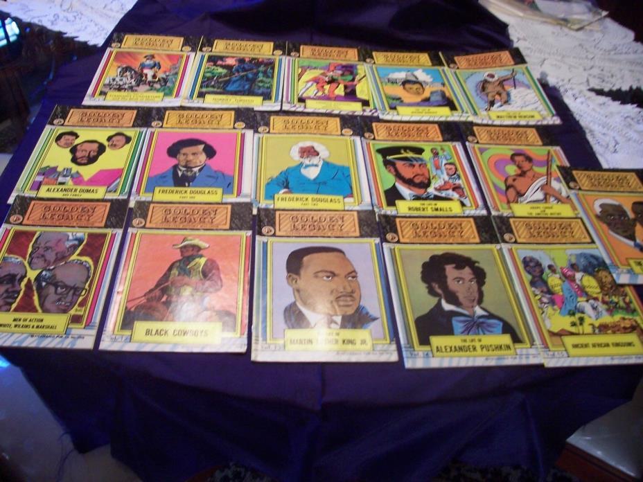 VINTAGE 1966-1976 GOLDEN LEGACY ILLUSTRATED HISTORY MAGAZINES  COMPLETE 16 SET