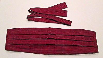 Vintage Formal Prest-O-Size Adjustable Bow Tie and Cummerbund Cumberbun Set
