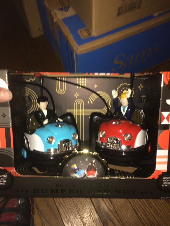 FAO Schwarz Classic Retro Vintage Remote Controlled Toy Retro Bumper Car Set, 2