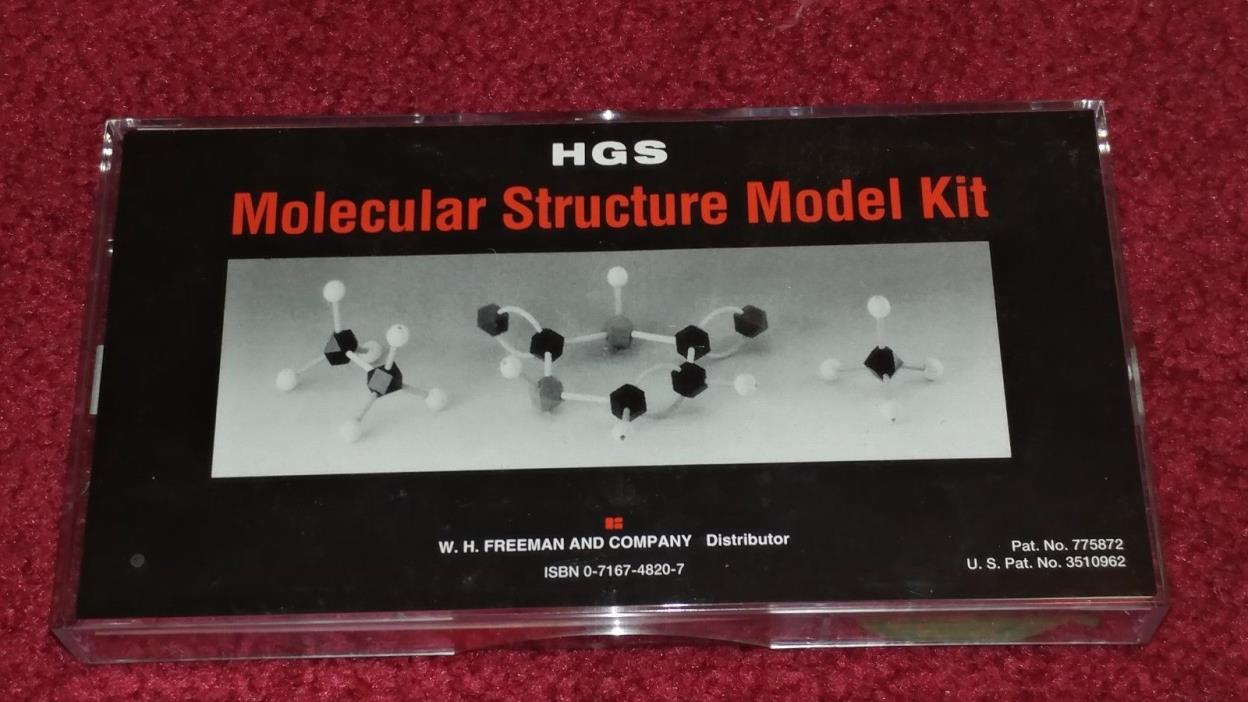 HGS Molecular Structure Model Kit Set Organic Chemistry W. H. Freeman