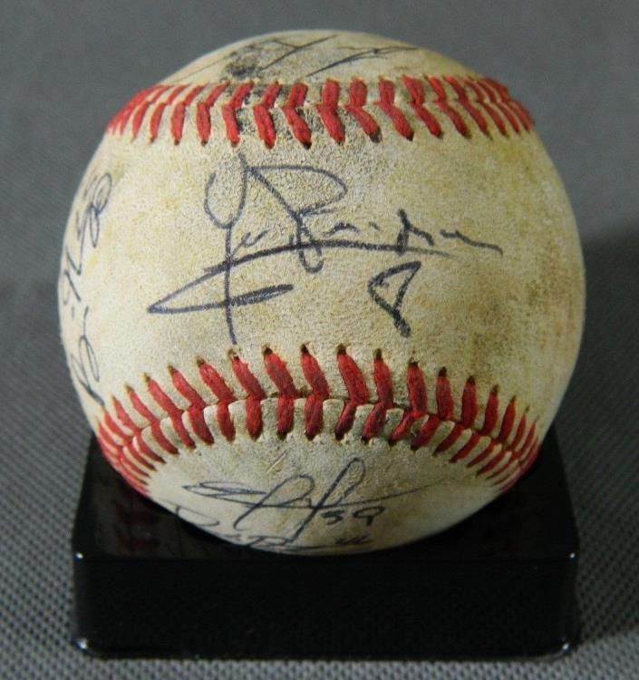 Delmarva Shorebirds team signed Game Used Baseball Orioles Minor League