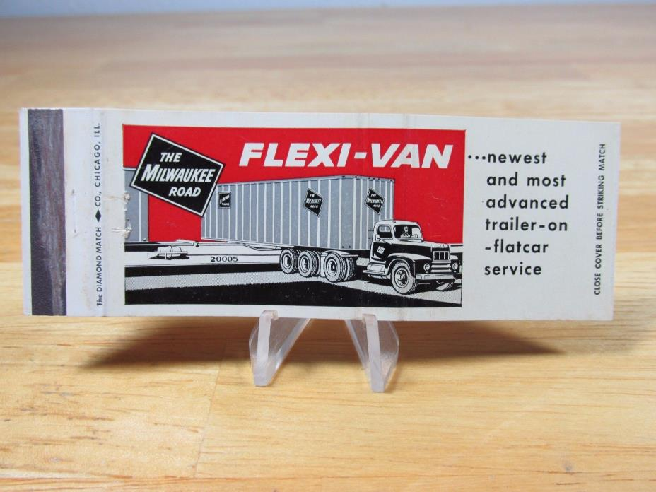 Vintage Truck The Milwaukee Road Flexi Van Vintage Matchbook Cover Ad