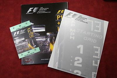 2001 Formula 1  SAP United States Grand Prix Official Program