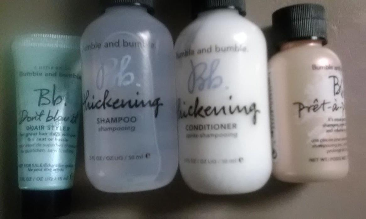 4 NEW BUMBLE & BUMBLE Thickening Set, Don't Blow It, Pret-a-Powder