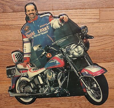 Kyle Petty Coors Light Silver Bullet Motorcycle Wall Plaque - Wood NASCAR Sign
