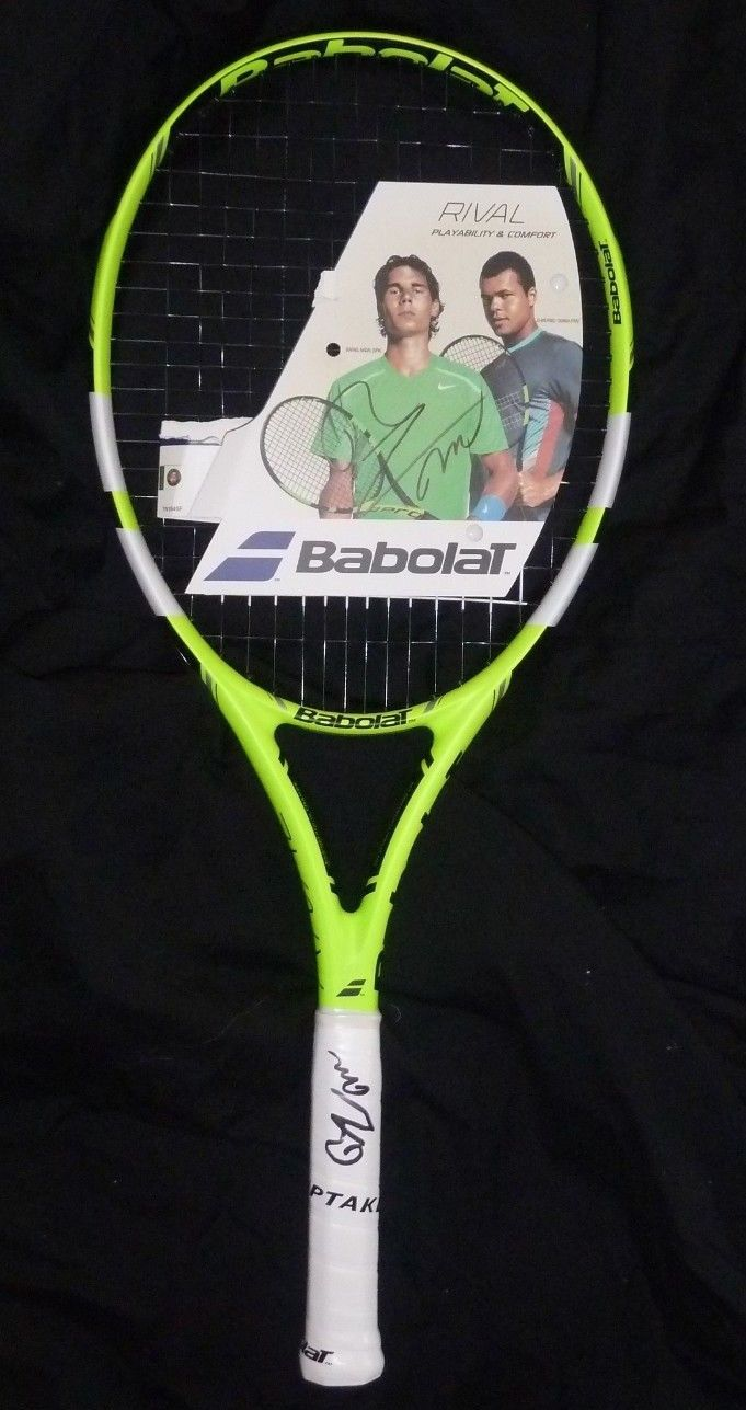 RAFAEL NADAL AUTOGRAPHED BABOLAT TENNIS RACQUET-SIGNED TWICE