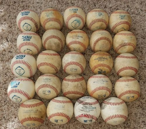 24 Rawlings Official Major MINOR Little League Leather Game Baseballs MLB 2017