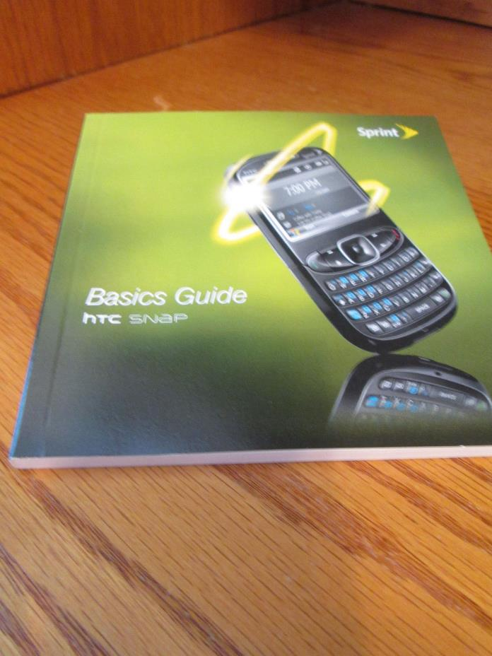 HTC Snap Sprint Cell Phone Users Guide Owners Manual