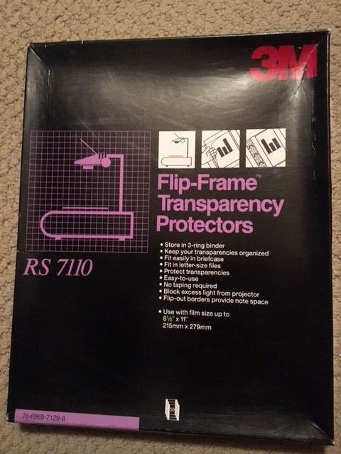 3M FLIP-FRAME TRANSPARENCY PROTECTORS-29 IN BOX RS 7110