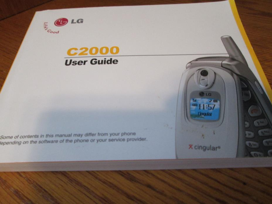 LG C2000 Cingular Cell Phone Users Guide Owners Manual