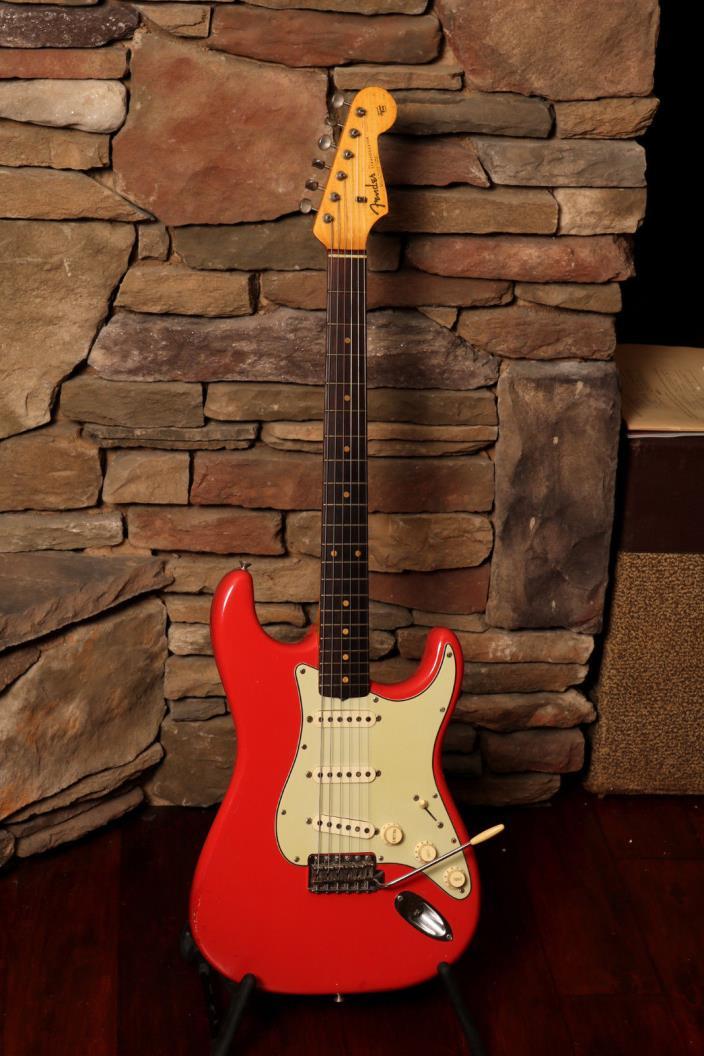 1962 Fender Stratocaster, Very Rare Fiesta Red finish  (FEE0937)