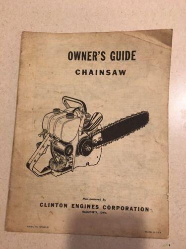 Clinton Engines Maquoketa Iowa Chainsaw Owners Guide