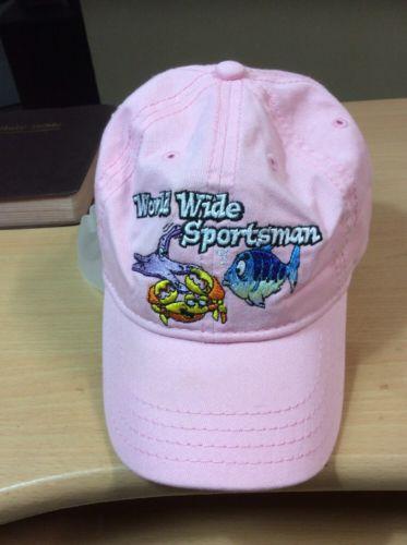 BASS PRO SHOPS World Wide Sportsman FISHING HAT CAP TODDLER'S Girl PINK