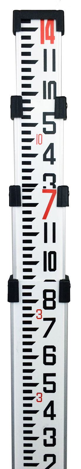14' Northwest Aluminum Survey Level Rod Stick INCHES  NAR14