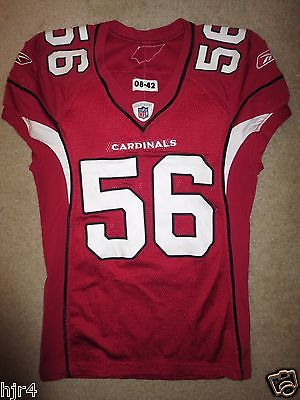 Chike Okeafor #56 Arizona Cardinals 2008 NFL Game Used Worn Jersey
