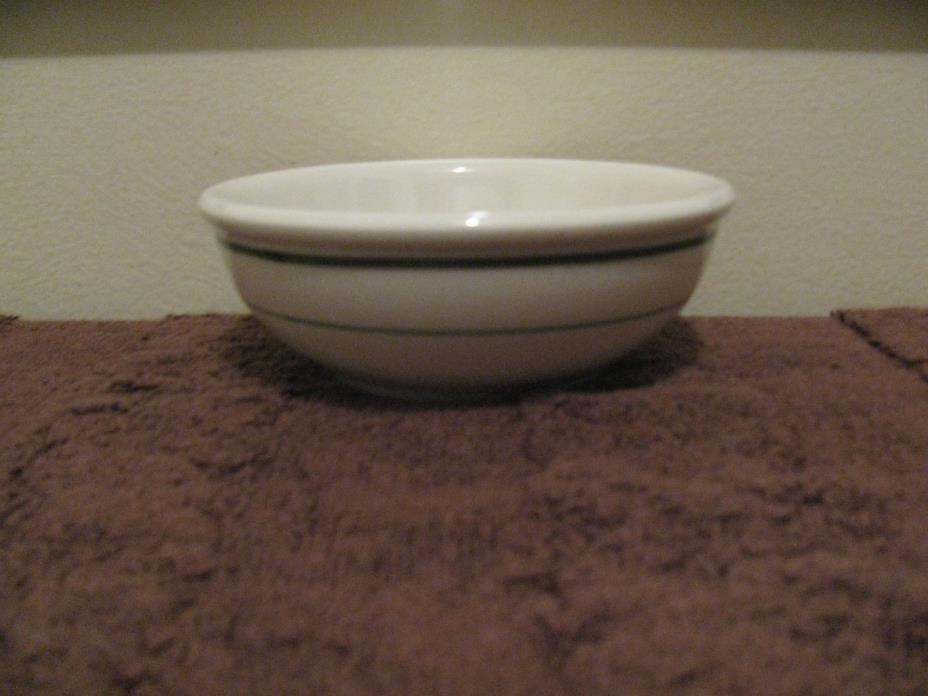 Vintage Buffalo China Bowl ~Made in USA~ Double Green Stripe Restaurant Ware