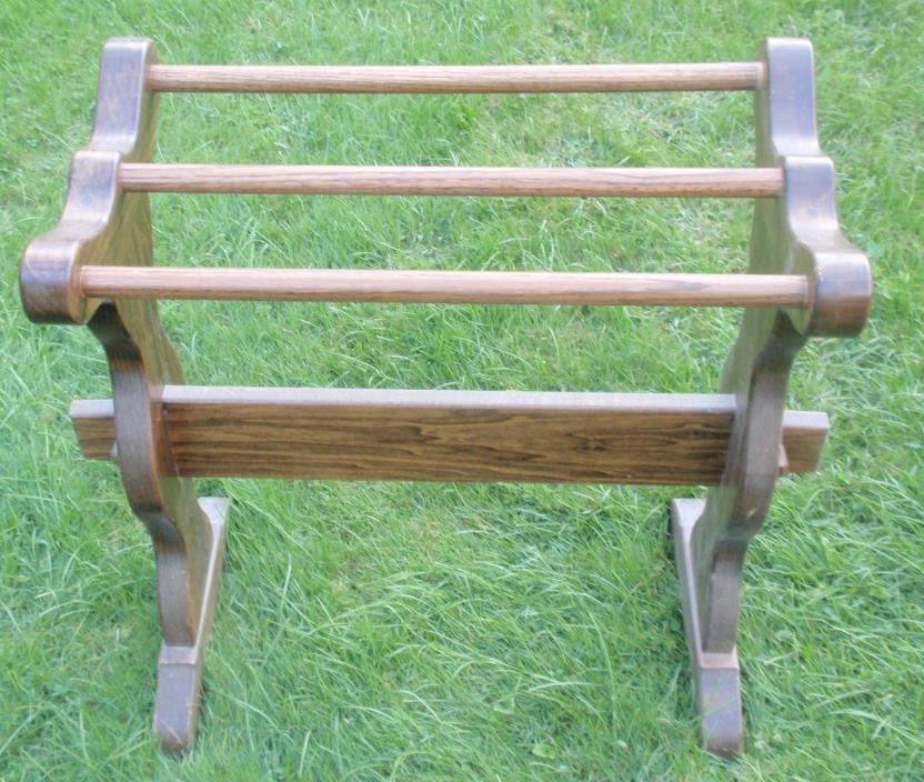 ** Vintage Solid Pine Quilt Rack **