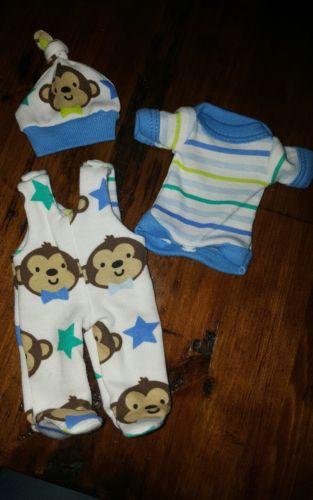 Handmade OOAK Reborn Baby Doll micro preemie clothes 6