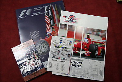 2000 Formula 1  SAP United States Grand Prix Official Program