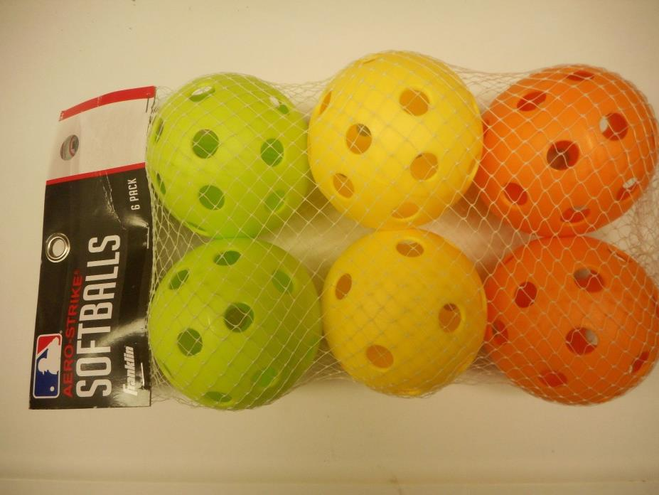 FRANKLIN AERO-STRIKE SOFTBALLS 6-PACK