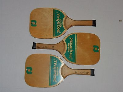 3 Pickle Ball Master Paddles 7-Ply Hardwood 12.5 oz.'s Height 15 1/4