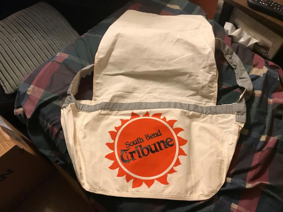 Vtg South Bend indiana newspaper delivery carrier newsbag paper boy bag Usa rare