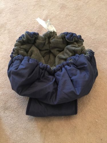 Grocery Cart Cover For Babies Navy Blue GOLD BUG EUC