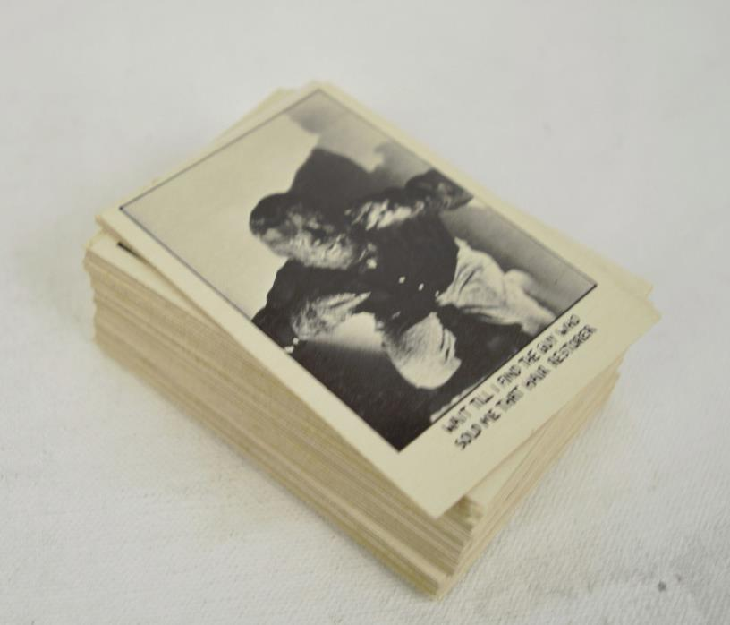 You'll Die Laughing Trading Cards A&BC 66 Set 1974 B&W Topps Creature Feature