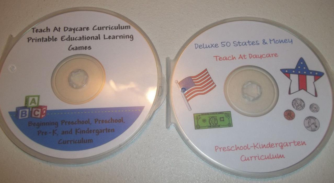 3000 printable preschool Educational Games and States Curriculum 2 Disc Set