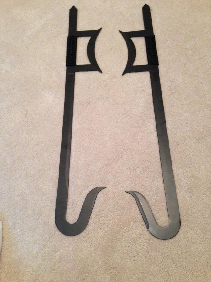 Black Martial Arts Hook Swords