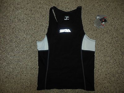 New Tag Profile Design Mens Small Triathlon Cycling Black White Shirt Jersey