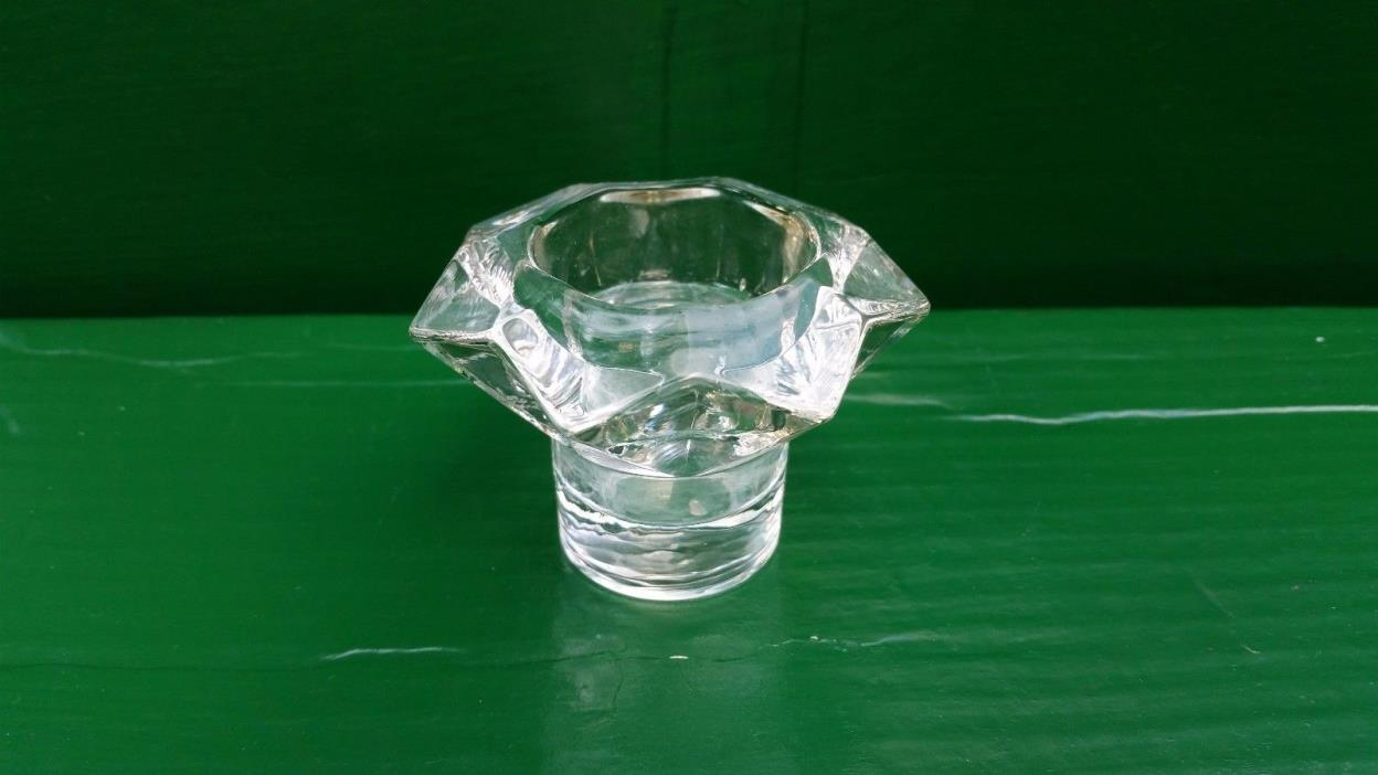 Arabia Finland Glass Candle Holder Clear