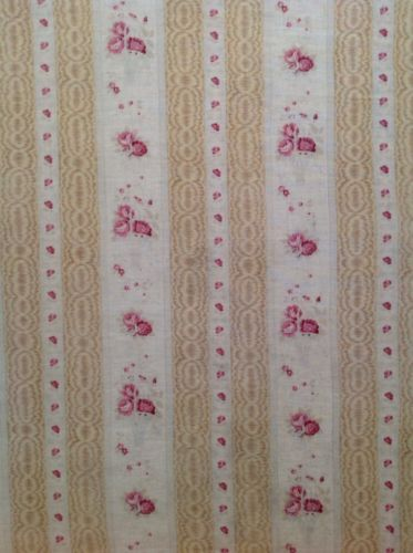 Antique French Shabby Pink Floral Fabric