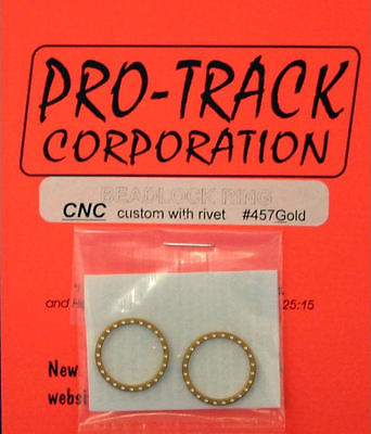 Pro Track Gold Beadlock Ring CNC custom with rivets for 1/24 Slot Car Tires