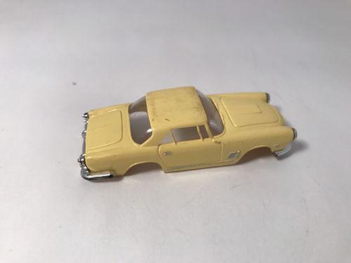Vintage Aurora Maserati Car Thunder-jet Tjet Slot Car Body Only Yellow