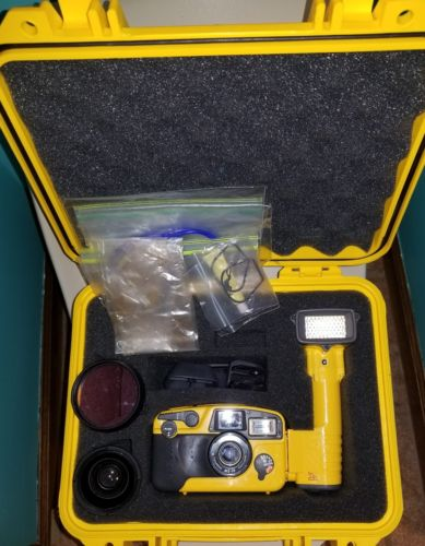 Sea & Sea MX-10 camera, case, strobe, wide angle lens, filter
