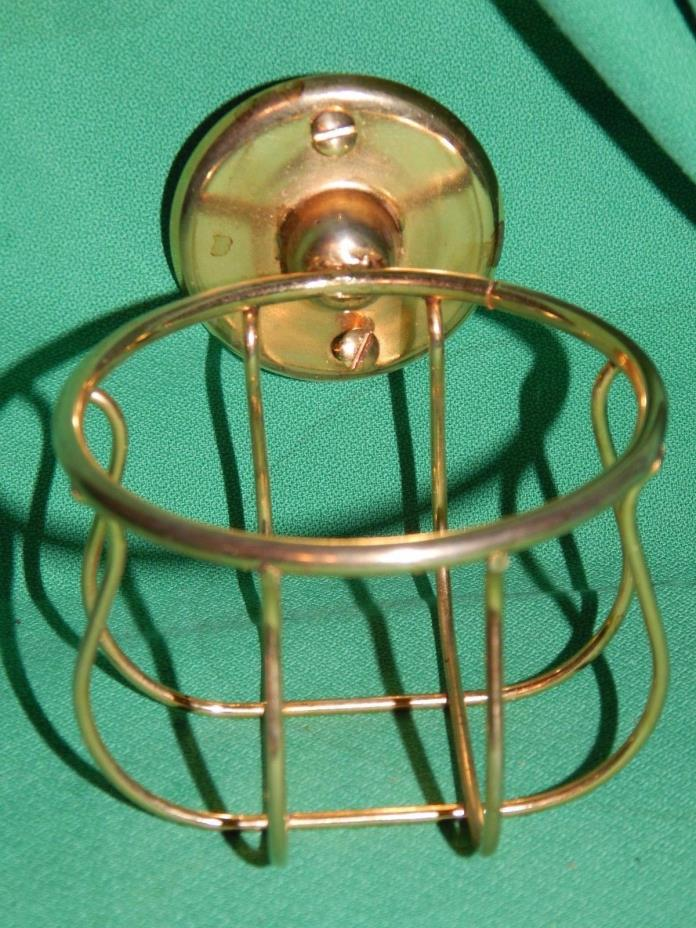 Antique  Water Glass, Cup Holder Vintage Bathroom Fixture, REPLATED GOLD!