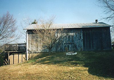 Bank Barn for Sale 43 x 25 With Two Cedar Decks Attached Metal Roof Field Stone
