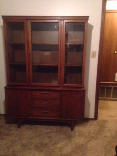 Eames Era Garrison Walnut Cabinet China Hutch Delivery Avail Dallas Okc Tulsa