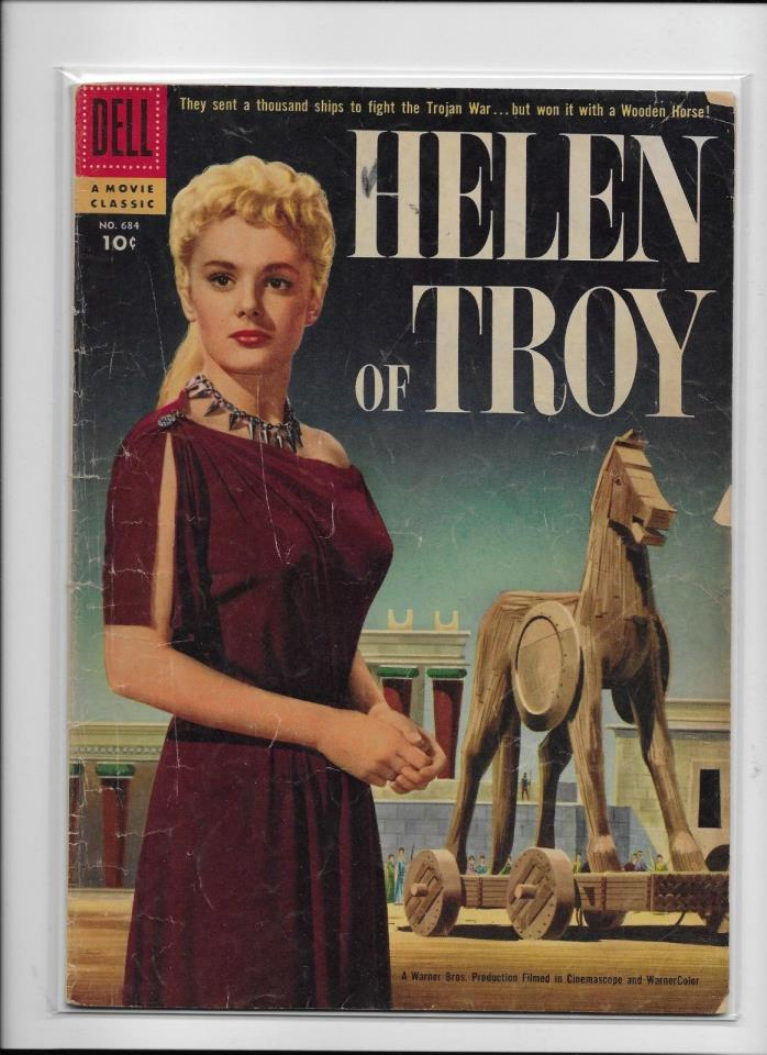 Dell Comics  MOVIE Classic #684   Helen Of Troy  Solid VG Photo Cover
