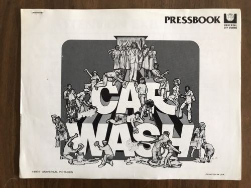 CAR WASH Vintage 1976 Movie Press Book