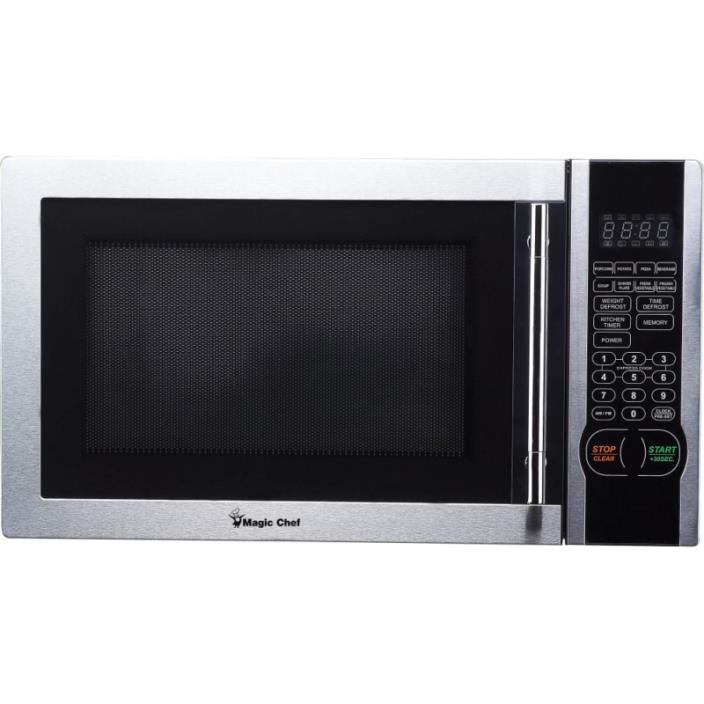Magic Chef 1.1 cu. ft. Digital Microwave Stainless Steel