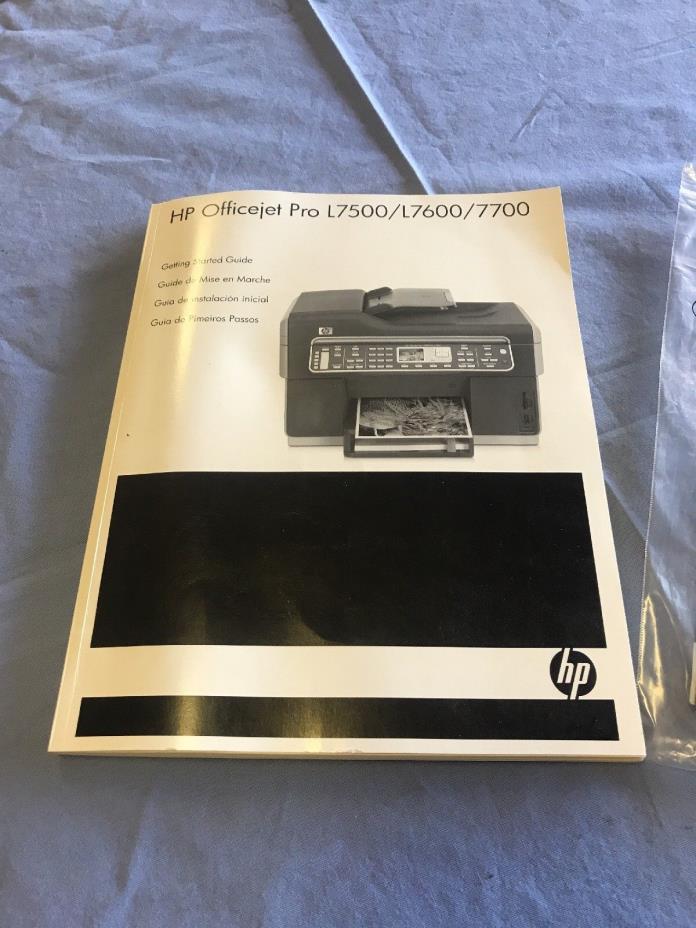 HP OFFICEJET PRO L7500/L7600/7700 GETTING STARTED GUIDE USER MANUAL+STARTER CD