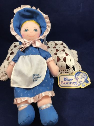 Vintage Dakin Nabisco Blue Bonnet Sue Cloth Doll Advertising 1986