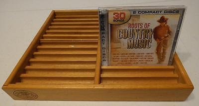 VINTAGE NAPA VALLEY BOX COMPANY 24 CD STORAGE RACK TRAY