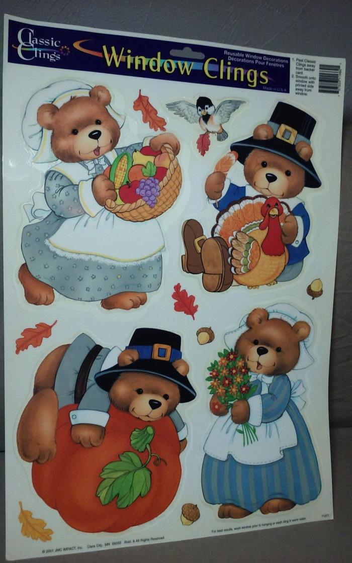 THANKSGIVING WINDOW DECORATION  COLOR CLINGS
