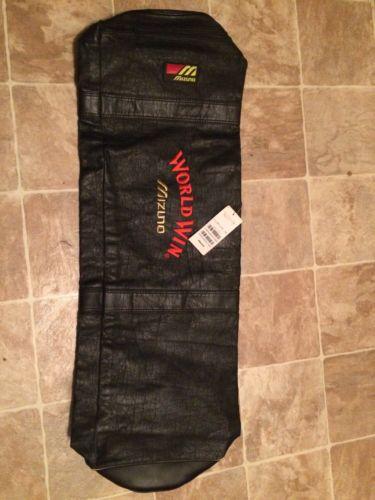 MIZUNO Large Baseball bag BLACK/ Leather bag World Win Nwt Vintage