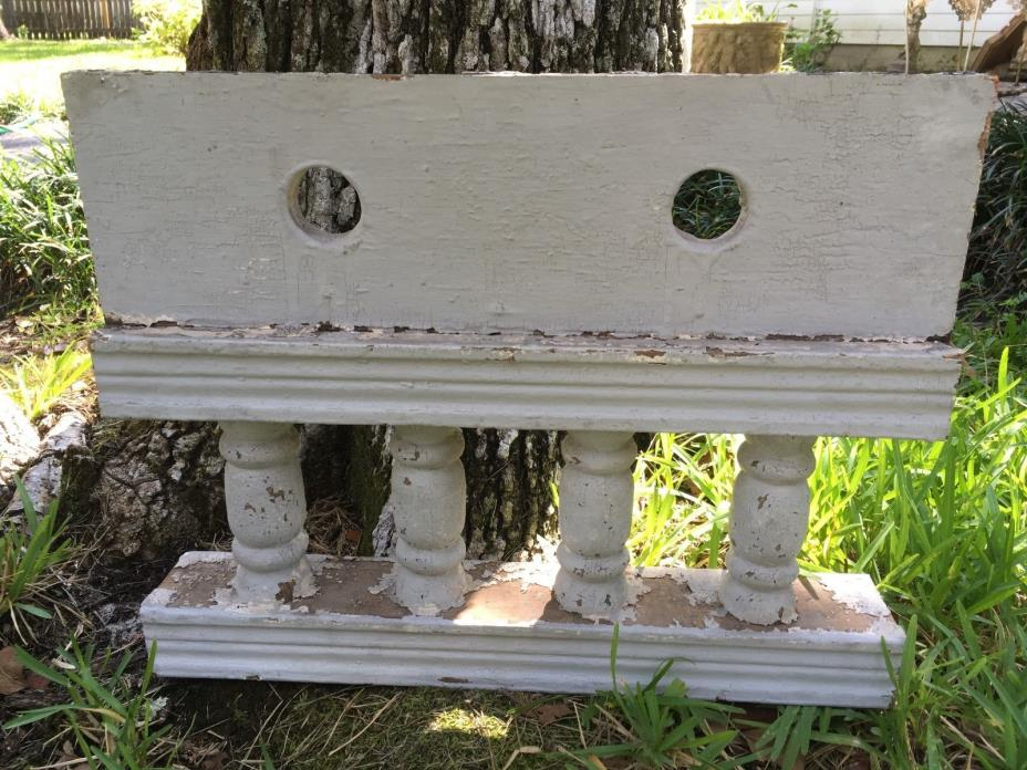 FINE ANTIQUE RAILING w 4 BALUSTERS 1800s ARCHITECTURAL SALVAGE 18