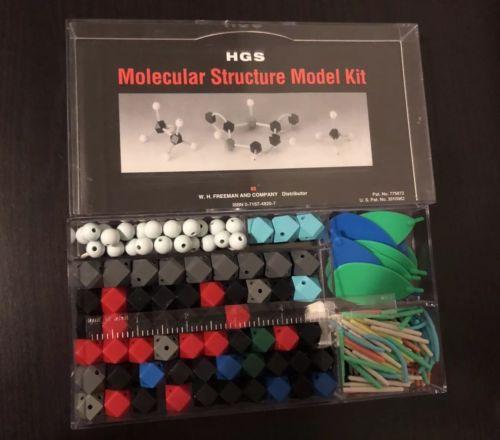 HGS Molecular Structure Model Kit Set Organic Chemistry W.H.Freeman 0716748207