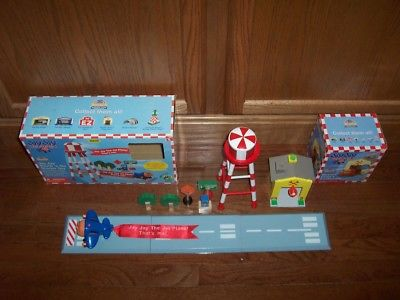 Jay Jay the Jet Plane Wooden Touch 'n Go Starter Set Lot Fits BRIO Thomas Train